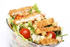 Healthy salad with chicken and vegetables Stock Photos