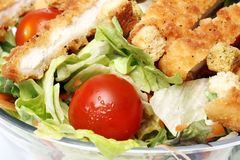 Healthy salad with chicken and vegetables Royalty Free Stock Photo