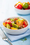 Healthy salad with colorful tomatoes Royalty Free Stock Photos