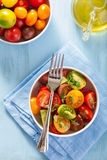 Healthy salad with colorful tomatoes Stock Photography