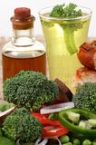 Healthy salad and drink Royalty Free Stock Image