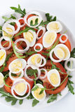 Healthy salad with eggs stock photo