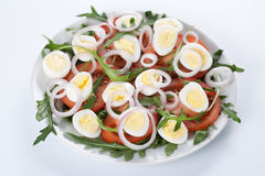 Healthy salad with eggs Stock Photos