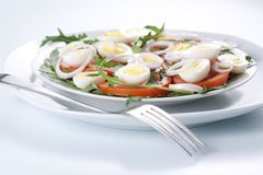 Healthy salad with eggs Royalty Free Stock Photos