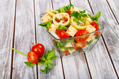 Healthy salad with fresh vegetables Stock Photo