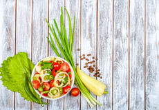 Healthy salad with fresh vegetables Royalty Free Stock Images