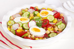 Egg Salad with Chickpeas Stock Photo