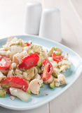 Healthy salad with hearts of palm and tomatoes Stock Image