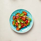 Healthy salad and ingredients royalty free stock images