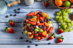 Healthy salad made ��of fresh fruits Stock Image