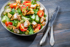 Healthy salad made ��with fresh vegetables Stock Photography