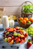 Healthy salad made of fresh fruits royalty free stock photo