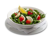 Healthy salad with mozarella chease and tomato Stock Photo