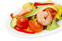 Healthy Salad Of Shrimp Stock Photography