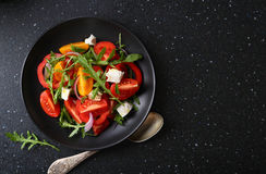 Healthy salad on plate Stock Image