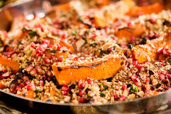 Healthy salad with quinoa and pomegranate Stock Photography