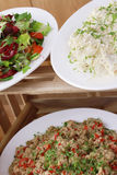 Healthy salad selection Stock Image