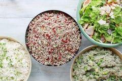 Healthy salad selection Stock Photo