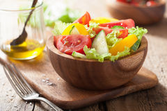 Healthy salad with tomatoes cucumber and pepper Royalty Free Stock Image