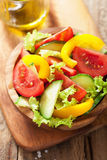 Healthy salad with tomatoes cucumber and pepper Stock Photo