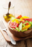 Healthy salad with tomatoes cucumber and pepper Stock Photography