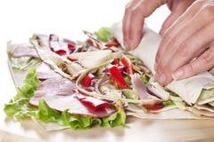 Healthy Salad Tortilla wraps Stock Photos