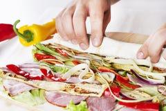 Healthy Salad Tortilla wraps Royalty Free Stock Image