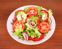 Healthy salad with vegetables Royalty Free Stock Photo
