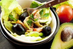 Healthy Salad with Vegetables and Seeds Royalty Free Stock Photography