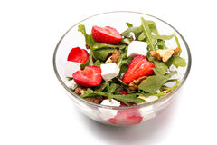 Healthy salad on white background Royalty Free Stock Photo