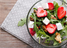 Healthy salad on the wooden table Royalty Free Stock Photo