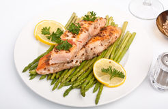 Healthy salmon with coriander Stock Image
