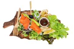 Healthy salmon salad with Spicy Salad royalty free stock photos