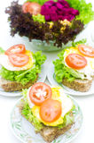 Healthy sandwich Stock Images