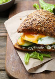 Healthy sandwich with eggs Stock Photo