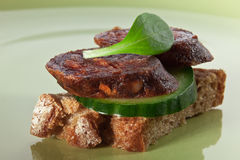 Healthy sandwich made with whole grain bread Stock Photos