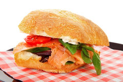 Healthy sandwich on napkin Stock Image