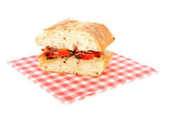 Healthy sandwich on napkin Stock Image