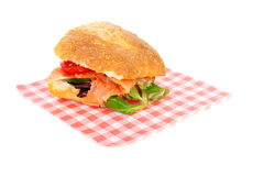 Healthy sandwich on napkin Stock Photography