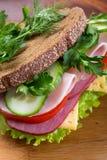 Healthy sandwich on rye bread Stock Image