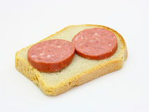Healthy sandwich with sausage Stock Photo