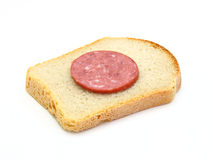 Healthy sandwich with sausage Royalty Free Stock Photos