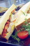 Healthy sandwich selection Royalty Free Stock Photography