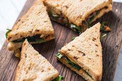 Healthy sandwich sliced on board Royalty Free Stock Photography