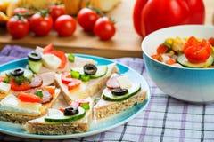 Healthy sandwich stock image