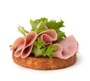 Healthy sandwich with vegetable and smoked ham Stock Photography