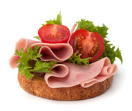 Healthy sandwich with vegetable and smoked ham Royalty Free Stock Photo
