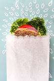Healthy Sandwich in white  paper Royalty Free Stock Photo