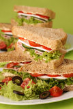 Healthy sandwiches stock photos