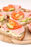 Healthy sandwiches Stock Images